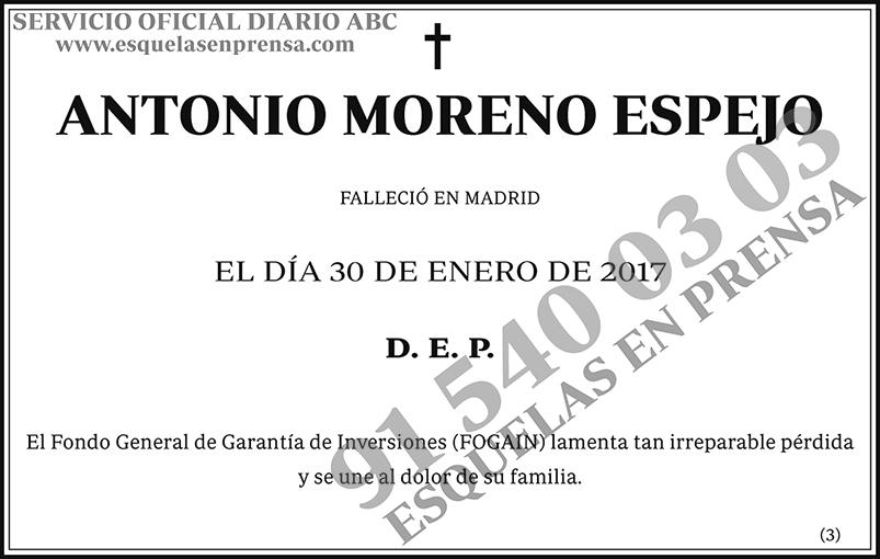 Antonio Moreno Espejo